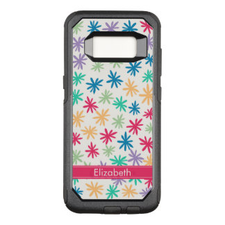 Abstract Floral Pattern OtterBox Commuter Samsung Galaxy S8 Case