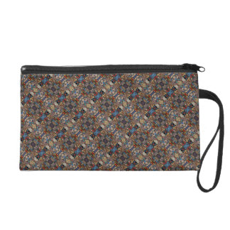 Abstract Floral Pattern Wristlet