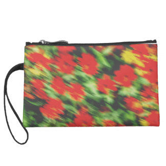 Abstract Floral Patterned Wristlet