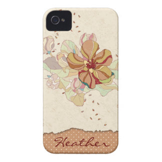 Abstract Floral Personalized iPhone 4 Case-Mate Case
