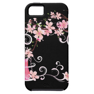 Abstract Floral Pink Blossoms with Vase iPhone 5 Covers