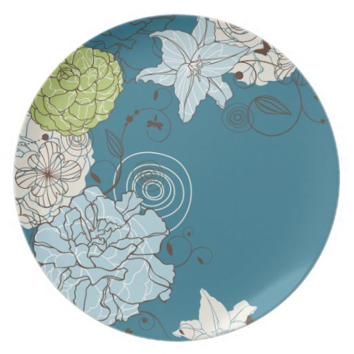 Abstract Floral Plate