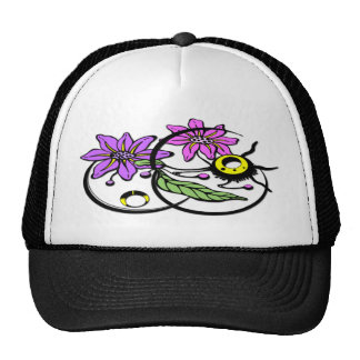 Abstract Floral - Purple & Pink Hat