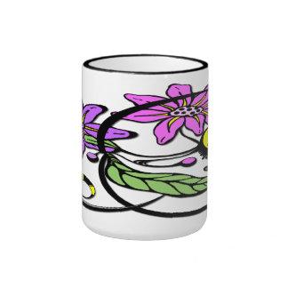 Abstract Floral - Purple & Pink Mug