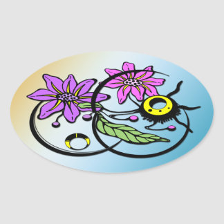 Abstract Floral - Purple Pink Sticker