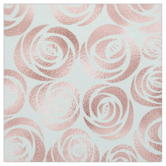 Abstract Floral Rose Gold ID490 Fabric