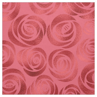 Abstract Floral Rose Red ID490 Fabric
