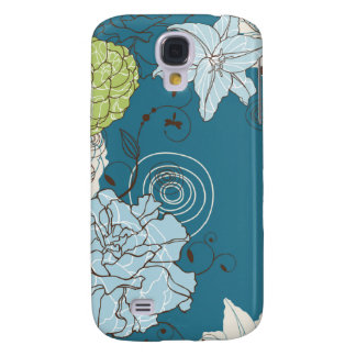 Abstract Floral Samsung Galaxy S4 Cover