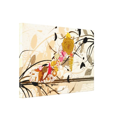 Abstract Floral Shoe Wrapped Canvas Gallery Wrap Canvas