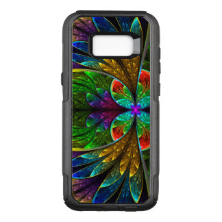 Abstract Floral Stained Glass Pattern OtterBox Commuter Samsung Galaxy S8+ Case