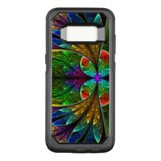 Abstract Floral Stained Glass Pattern OtterBox Commuter Samsung Galaxy S8 Case