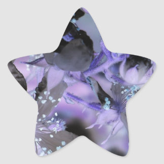 Abstract Floral Star Stickers