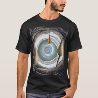 Abstract Floral Still Life Motif shown on Black T-Shirt