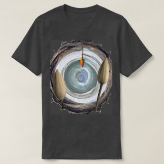 Abstract Floral Still Life Motif shown on Grey T-Shirt