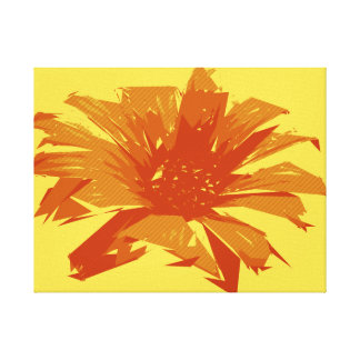 Abstract Floral Summer Duotone Canvas Print