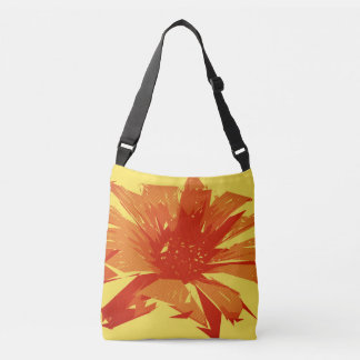 Abstract Floral Summer Duotone Crossbody Bag