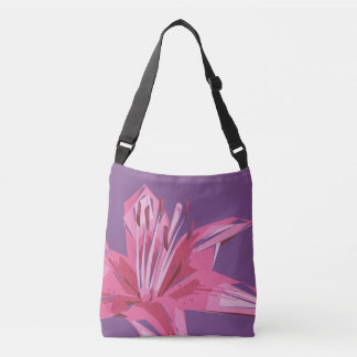 Abstract Floral Summer Lily Crossbody Bag