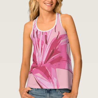 Abstract Floral Summer Lily Singlet