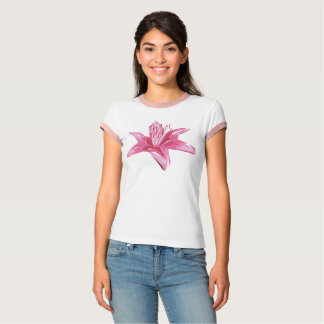 Abstract Floral Summer Lily T-Shirt