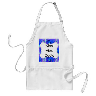 Abstract Floral Swirl Blue Purple Girly Gifts Aprons