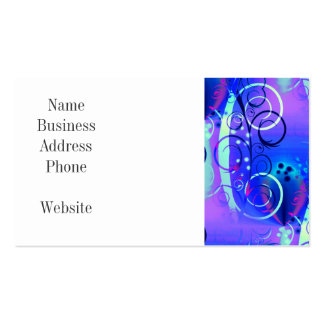 Abstract Floral Swirl Blue Purple Girly Gifts Business Card
