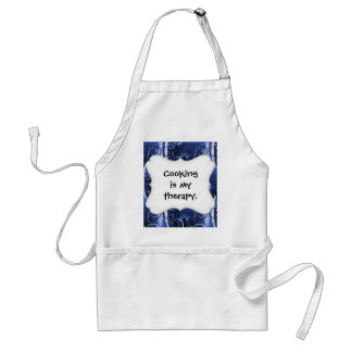 Abstract Floral Swirl Indigo Blue Girly Gifts Apron