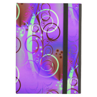Abstract Floral Swirl Purple Mauve Aqua Girly Gift iPad Air Cover