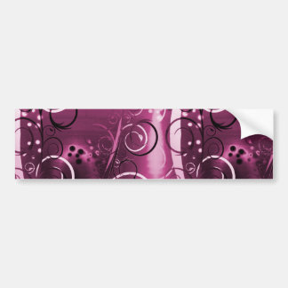 Abstract Floral Swirl Vines Deep Purple Girly Gift Bumper Sticker