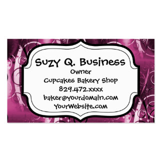 Abstract Floral Swirl Vines Deep Purple Girly Gift Pack Of Standard Business Cards
