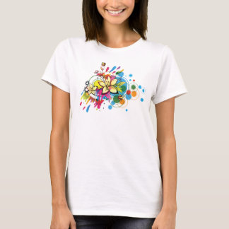 Abstract Floral T-Shirt