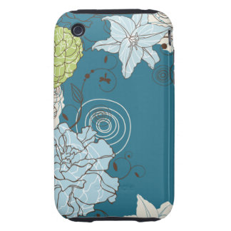 Abstract Floral Tough iPhone 3 Cover