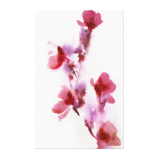 Abstract floral watercolor paintings 3 gallery wrapped canvas