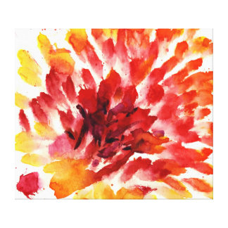 Abstract floral watercolor paintings 5 gallery wrap canvas