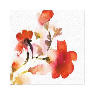 Abstract floral watercolor paintings gallery wrapped canvas