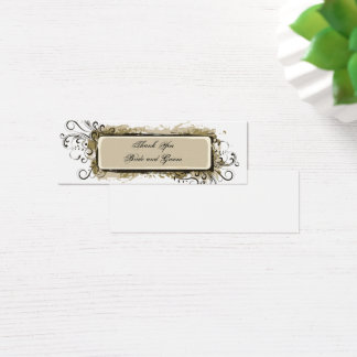 Abstract Floral Wedding Thank You Tags Mini Business Card