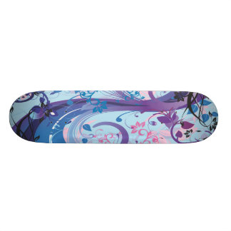 Abstract Floreal Skate Board Deck