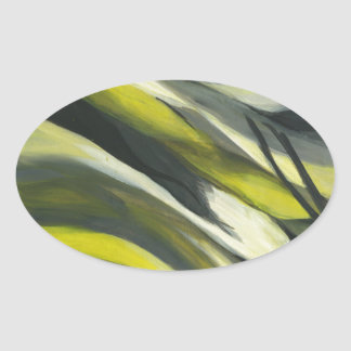 Abstract Flow - Yellow Grey Sticker