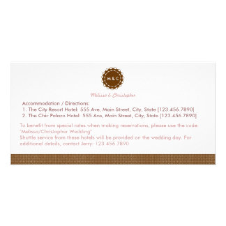 Abstract Flower Accommodation / Directions Card