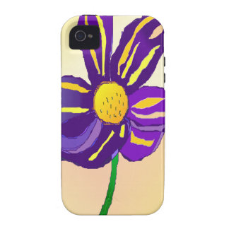 Abstract Flower Vibe iPhone 4 Covers