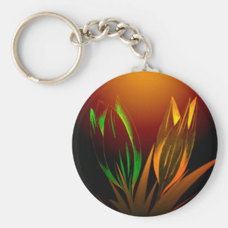 Abstract Flower Colours Of The Tulip Basic Round Button Key Ring