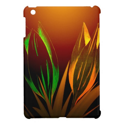 Abstract Flower Colours Of The Tulip Case For The iPad Mini