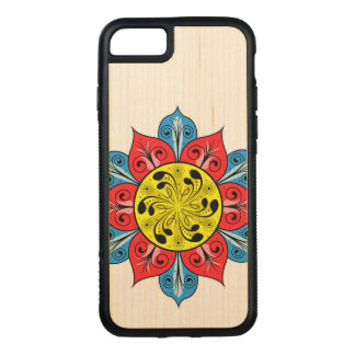 Abstract Flower Design Carved iPhone 8/7 Case