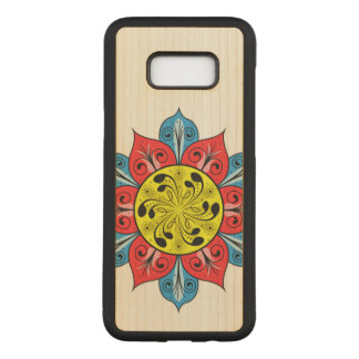 Abstract Flower Design Carved Samsung Galaxy S8+ Case