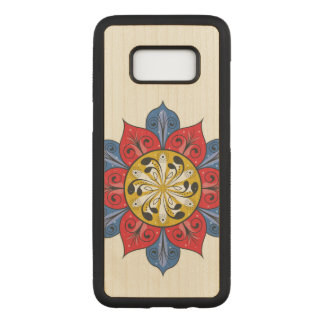 Abstract Flower Design Carved Samsung Galaxy S8 Case
