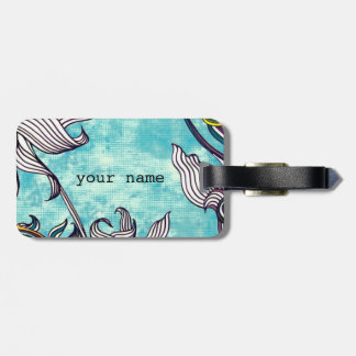 abstract Flower drawing Luggage Tag
