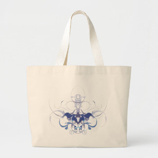 Abstract flower elements jumbo tote bag