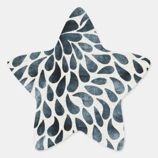 Abstract Flower Iamge Star Sticker