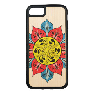 Abstract Flower Illustration Carved iPhone 7 Case