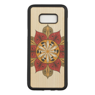 Abstract Flower Illustration Carved Samsung Galaxy S8+ Case