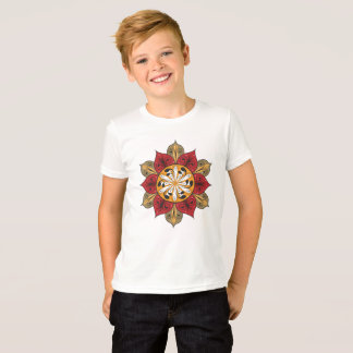 Abstract Flower Illustration T-Shirt